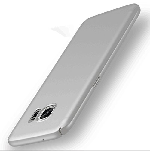 Galaxy Note 8 Case, Ultra Slim Hard PC Premium Case Hybrid Anti Fingerprint Scratches Soft Grip 360 Degree Full Body Protection Cover for Samsung Galaxy Note 8-Silver