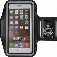 HESGI SPORTY Armband + Key Holder for iPhone 6 Plus 5.5 Inch And 1 Free Clear Screen Protector Front Black