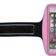 HESGI SPORTY Armband + Key Holder for iPhone 6 Air 4.7 Inch And 1 Free Clear Screen Protector Front Pink