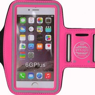 HESGI SPORTY Armband + Key Holder for iPhone 6 Air 4.7 Inch And 1 Free Clear Screen Protector Front Rose