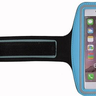 HESGI SPORTY Armband + Key Holder for iPhone 6 Air 4.7 Inch And 1 Free Clear Screen Protector Front Light Blue
