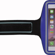 HESGI SPORTY Armband + Key Holder for iPhone 6 Air 4.7 Inch And 1 Free Clear Screen Protector Front Dark Blue