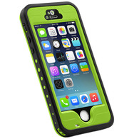 HESGI iPhone 5s Case, 6.6 ft Underwater Waterproof Shockproof Snowproof Dirtpoof Protection Case Cover with Touch ID for iPhone 5S/SE [Green]