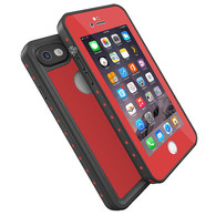 HESGI Thin IP68 Waterproof Case for Apple iPhone 7 - Red