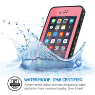 HESGI iPhone 7 Plus case IP68 Waterproof Shockproof Dirtproof Snowproof Protection Phone Case Thin Full Function Sensitive Screen For iPhone 7 Plus 5.5inch (2016 Newest) Pink