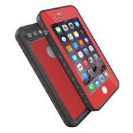 HESGI iPhone 7 Plus case IP68 Waterproof Shockproof Dirtproof Snowproof Protection Phone Case Thin Full Function Sensitive Screen For iPhone 7 Plus 5.5inch (2016 Newest) Red