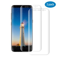 Galaxy S8 Screen Protector, Full Coverage Edge to Edge Curved Tempered Glass Screen Protector for S8 ,Bubble Free Anti-Scratch/Shatter/Fingerprint-2PACK