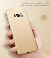 Galaxy Note 8 Case, Ultra Slim Hard PC Premium Case Hybrid Anti Fingerprint Scratches Soft Grip 360 Degree Full Body Protection Cover for Samsung Galaxy Note 8-Gold