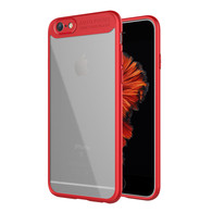 iPhone 6s Case, iPhone 6 Case,Tough PC and Flexible TPU Ultra Slim Case Premium Hybrid Protective Clear Case for Apple iPhone 6/6s-Red