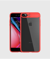 iPhone 7 Plus Case, iPhone 8 Plus Case,Tough PC and Flexible TPU Ultra Slim Case Premium Hybrid Protective Clear Case for Apple iPhone 7/ 8 Plus-Red
