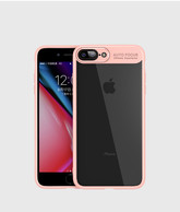 iPhone 7 Plus Case, iPhone 8 Plus Case,Tough PC and Flexible TPU Ultra Slim Case Premium Hybrid Protective Clear Case for Apple iPhone 7/ 8 Plus-Pink