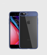 iPhone 7 Plus Case, iPhone 8 Plus Case,Tough PC and Flexible TPU Ultra Slim Case Premium Hybrid Protective Clear Case for Apple iPhone 7/ 8 Plus-Blue
