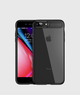 iPhone 7 Plus Case, iPhone 8 Plus Case,Tough PC and Flexible TPU Ultra Slim Case Premium Hybrid Protective Clear Case for Apple iPhone 7/ 8 Plus-Black